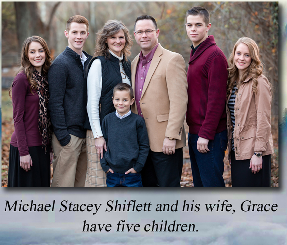 Pastor Shiflett and his family (from back cover of book)